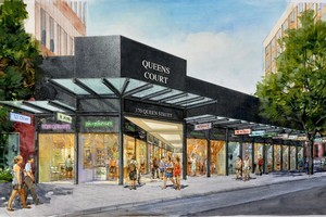 An artist's impression of a new retail complex being planned for central Auckland.