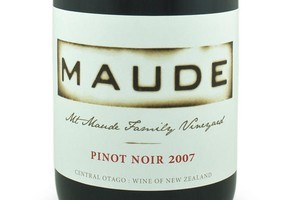 2007 Mt Maude Family Vineyard Pinot Noir, Central Otago, 48.95. Photo / Supplied