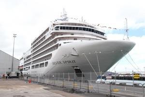 The Silver Spirit docks in Auckland Harbour. Photo / Janna Dixon