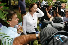 Julia Gillard could, in her speech to Parliament, take a leap towards a single transtasman market. Photo / APN