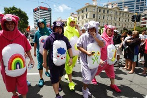 Sevens fans in Wellington. Photo / Mark Mitchell