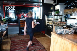 Hubcap Cafe situated above the Mini Garage on Ponsonby Rd. Photo / Sarah Ivey