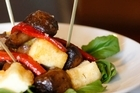 Smoked mushrooms with haloumi is one of the small plates at Eden Cloak Room. Photo / Richard Robinson