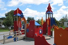 Dita De Boni believes peace of mind can only be granted for parents if playgrounds, like Rocket Park on New North Road, are carefully fenced off. Photo / The Aucklander