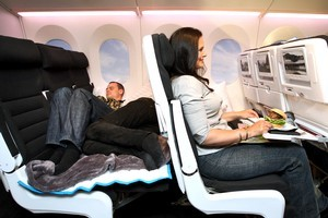Unless you're shelling out for cuddle class, the new economy seats on Air NZ little to be desired. Photo / Natalie Slade