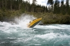 White water jet boating in Aratiatia on the Waikato River near Taupo. Photo / Sarah Ivey
