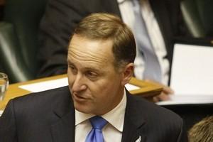 John Key in Parliament today. Photo / Mark Mitchell