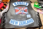 A Rebels Motorcycle Club patch and jacket. Photo / NZ Police