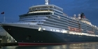 View: Cunard's Queen Elizabeth in Auckland