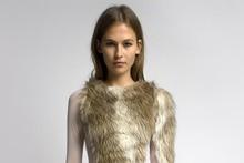 A stolen girlfriends club fur 'Team Jacob' dress, $650. Photo / Richard Edghil