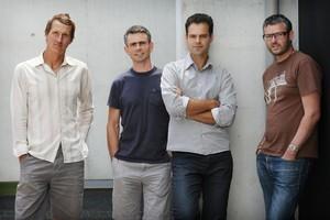 Nat Jakich (left), Nat Holloway, Dan Heyworth and Tim Dorrington  are collaborators.  Photo /  Greg Bowker
