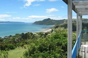 The view from Kaepelli's B&B at Kuaotunu. Photo / Supplied