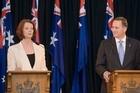 Julia Gillard and John Key failed to inspire any momentum towards an Australasian market. Photo / Mark Mitchell
