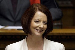 Julia Gillard speaks to Parliament. Photo / Getty Images