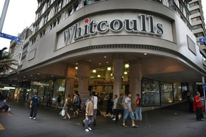 Whitcoulls retail shop on the corners of Queen and Victoria Street Auckland. Photo / Greg Bowker