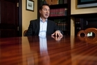 Entrepreneur Mike Pero in his Christchurch office. Photo / Simon Baker