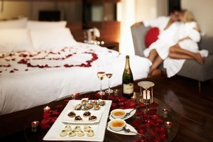 Hotel workers say they are fed up with cleaning rooms covered in fruits, chocolates and other things after Valentine's Day. Photo / Supplied