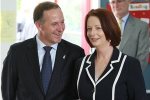 John Key may as well concede defeat to Julia Gillard unless we change our game plan. Photo / Greg Bowker