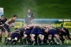 Referees hope to reduce scrum resets. Photo / NZ Herald