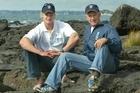 Steven Ferguson (left) with his father Ian Ferguson. Photo / Brett Phibbs
