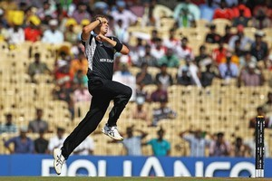 Tim Southee appears the most likely of New Zealand's bowlers to be relied on to coax movement out of the ball at the death. Photo / Getty Images