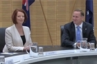 NZ Prime Minister John Key and Australian Prime Minister Julia Gillard talk about progress made in developing closer economic ties between the two countries.