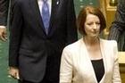 Australian Prime Minister Julia Gillard addresses the members of Parliament in Wellington.