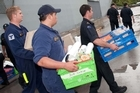 Re-distributing provisions. Photo / NZDF