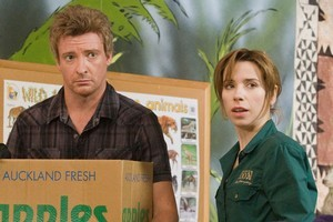 Rhys Darby and Sally Hawkins in the movie Love Birds. Photo / Supplied