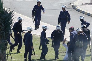 Police in Bahrain and other Arab nations have been trained and equipped by British police. Photo / AP
