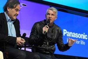 Director Baz Luhrmann, right. Photo / AP