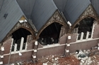 The destroyed Knox Presbyterian church. Photo / Getty Images