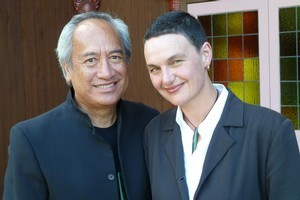 NZ composer Charlotte Yates and writer Witi Ihimaera. Photo / Supplied