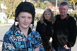 Nelson teenager Joseph Cotton (left) and his mother and father Jo Cotton and Rev Jeff Cotton. Photo / Nelson Weekly