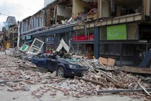 Manchester St in central Christchurch is a picture of devastation. Photo / Simon Baker
