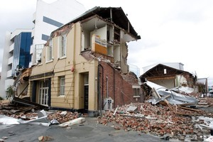 Destruction caused by the earthquake in central Christchurch. Photo / Mark Mitchell