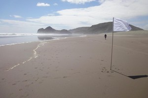 Hector Zamora will lead a work planting 500 white flags on Bethells Beach today. Photo / Supplied