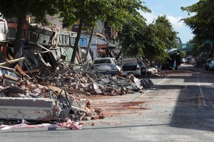 Colombo Street in Christchurch after the 6.3 magnitude earthquake.   Photo / Simon Baker