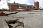 St Paul's School was seriously damaged in the September quake and again on Tuesday. Photo / Mark Mitchell