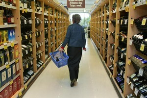 Alcohol should be placed in less visible areas of supermarkets, says Alcohol Action. Photo / Nicola Topping