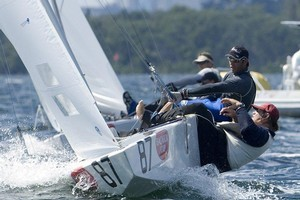 Hamish Pepper (on helm) and David Giles competing in the 2007 Bacardi Cup. Photo / Supplied