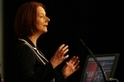 Australian Prime Minister Julia Gillard during her recent visit to New Zealand. Photo / Greg Bowker