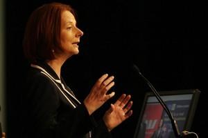 Australian Prime Minister Julia Gillard during her recent visit to New Zealand. Photo / Greg Bowker