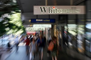 Sale of the business that includes Whitcoulls is under consideration and some interest has been shown. Photo / Greg Bowker