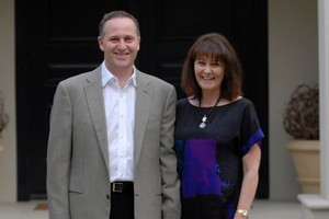 Prime Minister John Key and his wife Bronagh Key on  their 25th wedding anniversary.  Photo / APN