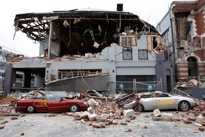 Destruction in Christchurch's Manchester St. Photo / Brett Phibbs