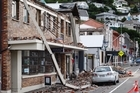 Wrecked buildings line the streets of central Lyttelton township. Photo / Sarah Ivey