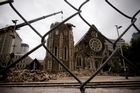 The damaged Christchurch Cathedral. Photo / Dean Purcell