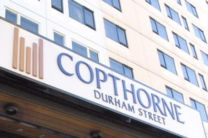 Manager Karen Wootton outside the Copthorne Hotel Durham St, which is to receive a $5.5 million upgrade.