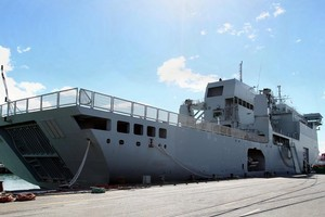 The HMNZS Canterbury. File photo Glenn Taylor